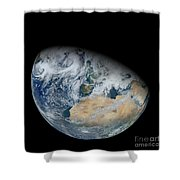 Synthesized View Of Earth Showing North Shower Curtain