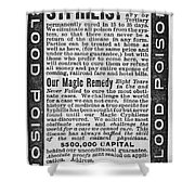 Syphilis Cure, 1890s Shower Curtain