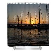Syracuse Harbor Sunset Shower Curtain