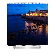 Syracuse Sicily Blue Hour - Ortygia Evening Mood Shower Curtain