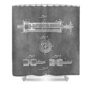 Syringe Patent Design Shower Curtain