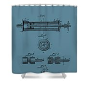 Syringe Patent Drawing Blue Shower Curtain