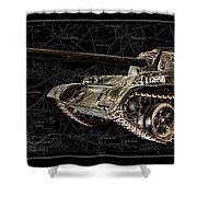 T-54 Soviet Tank Bk-bg Shower Curtain