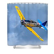 T-6 Texan Flying Shower Curtain