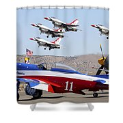 Miss America And The T-birds Shower Curtain