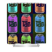 Tab Ode To Andy Warhol Black Shower Curtain