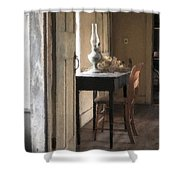 Table At Olsons 2 Shower Curtain