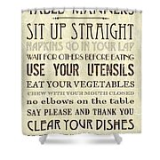 Table Manners 2 Shower Curtain
