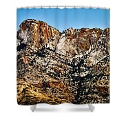 Table Mountain In Winter 42 Shower Curtain