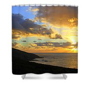 Table Mountain South Africa Sunset Shower Curtain