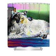 Table Queen Shower Curtain