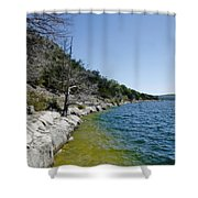 Table Rock Lake Shoreline Shower Curtain