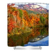 Table Rock Mirrored Shower Curtain