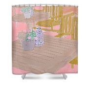 Tables And Chairs Shower Curtain