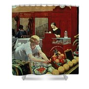 Tables For Ladies Shower Curtain by Edward Hopper