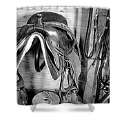 Tack Room Bw Shower Curtain