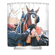 Tacking Up Shower Curtain