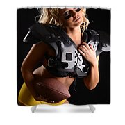 Tackle Or Flag Football Shower Curtain