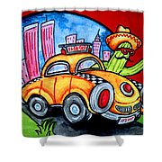 Taco Taxi Shower Curtain