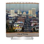 Tacoma City Of Destiny Shower Curtain