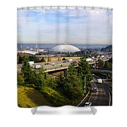 Tacoma Dome And Auto Museum Shower Curtain