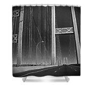 Tacoma Narrows Bridge B W Shower Curtain