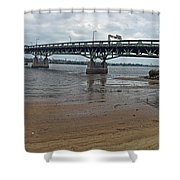 Tacony Palmyra Bridge Shower Curtain