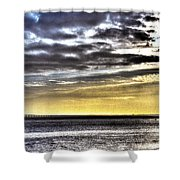 Big Clouds Over Tagus River Shower Curtain