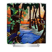 Tahiti Window Shower Curtain