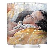 Tahitian Baby Shower Curtain