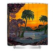 Tahitian Sunset Shower Curtain