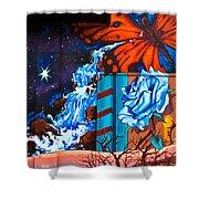 Tahlequah Graffiti Shower Curtain