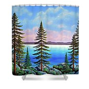 Tahoe Pines Shower Curtain