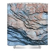 Tahoe Rock Formation Shower Curtain