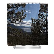 Tahoe Trees Shower Curtain