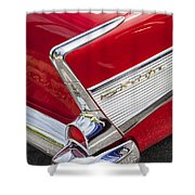 Tail Fins Are In 1957 Chevy Shower Curtain