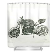 Tail In The Air Shower Curtain