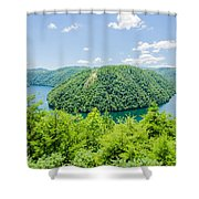 Tail Of The Dragon Scenic Road In Great Smoky Mountains Shower Curtain