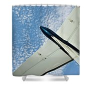 Tail Of The Airplane Shower Curtain