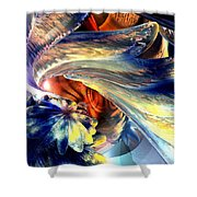 Tailed Beast Abstract Shower Curtain