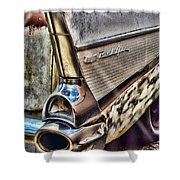 Taillight 1957 Chevy Bel Air Shower Curtain