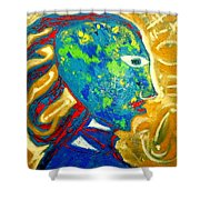 Taino Influence Shower Curtain
