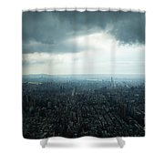 Taipei Under Heavy Clouds Shower Curtain
