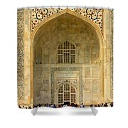 Taj Mahal Close Up Shower Curtain