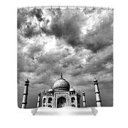 Taj Mahal India In Black And White Shower Curtain