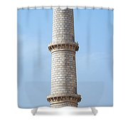 Taj Mahal Minaret Detail Shower Curtain