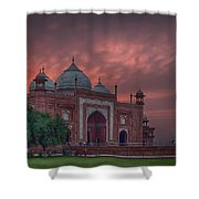 Taj Mahal Mosque At Sunset Shower Curtain