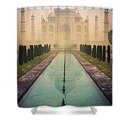Taj Mahal Predawn Shower Curtain