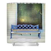 Take A Seat Shower Curtain by Priska Wettstein