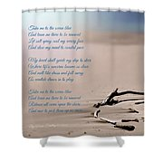 Take Me To The Ocean Blue Shower Curtain